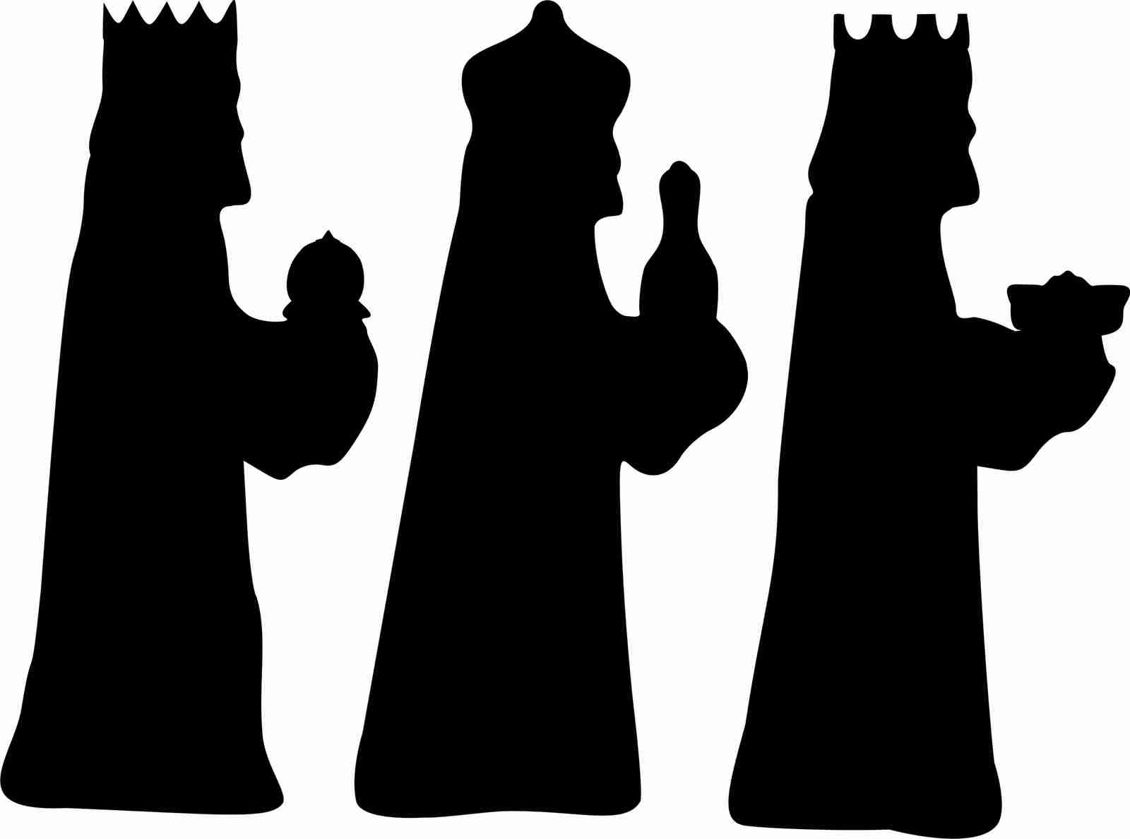 Three Kings Silhouette