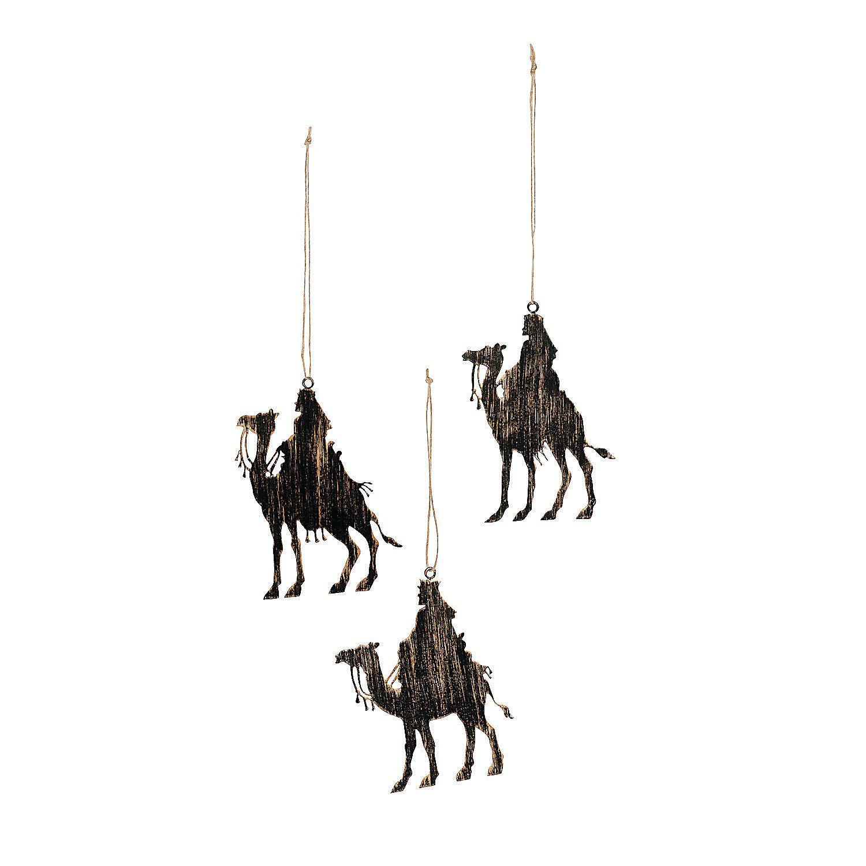 1500x1500 Three Kings Silhouette Christmas Ornaments