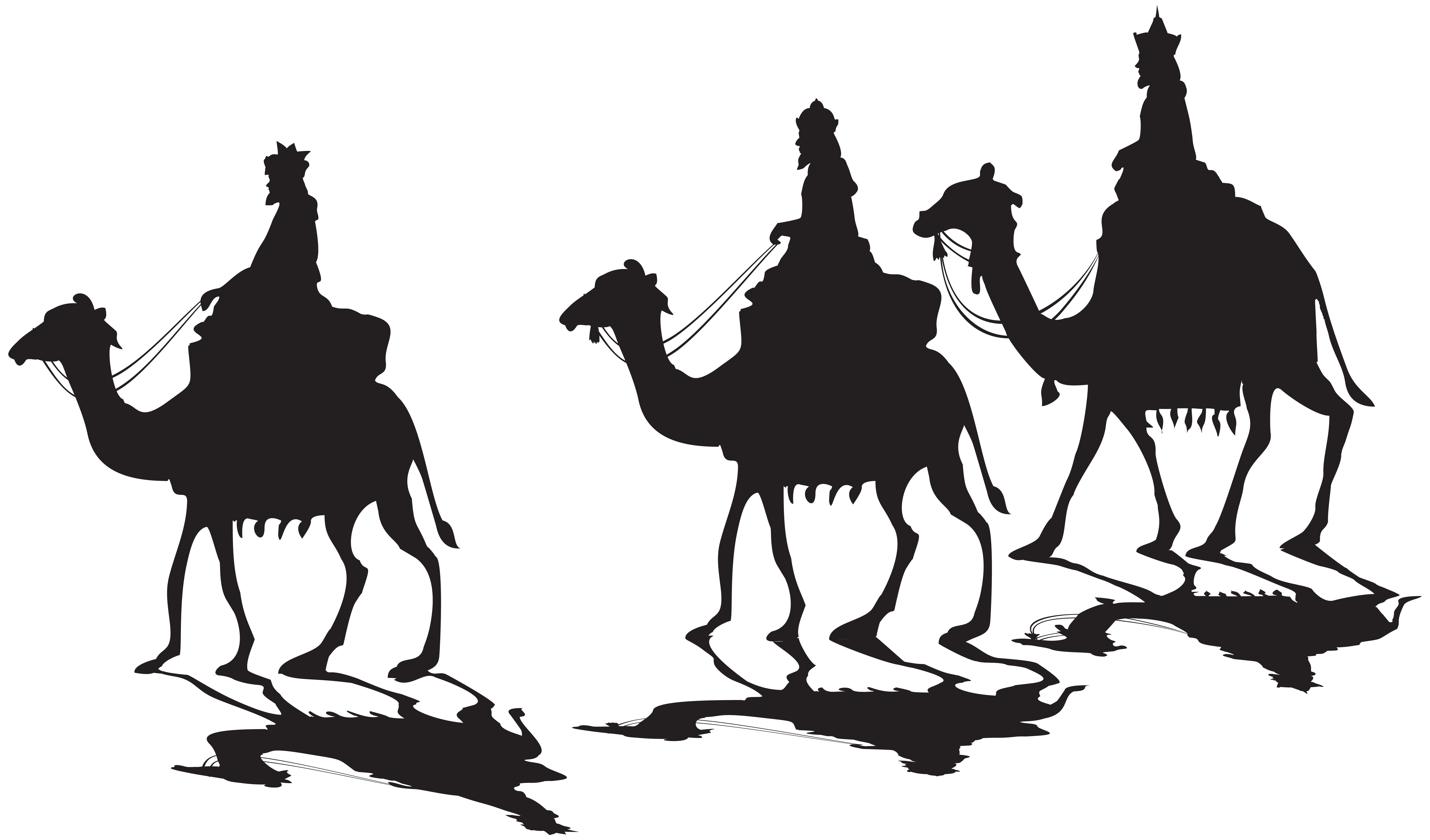 8000x4700 Three Kings Silhouette Png Clip Artu200b Gallery Yopriceville