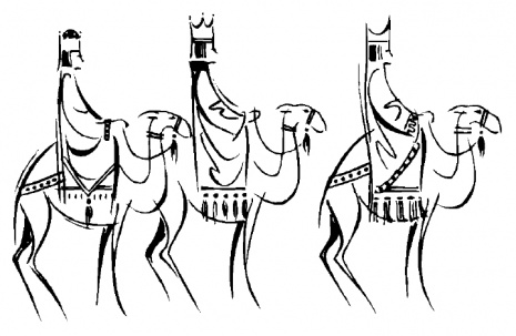 465x303 Camels Clipart We Three King