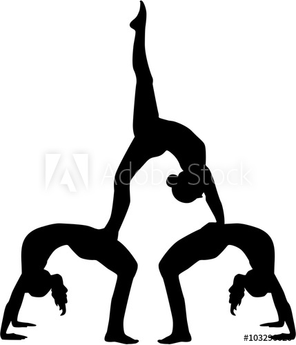 429x500 Acrobatics Silhouette Of Three People