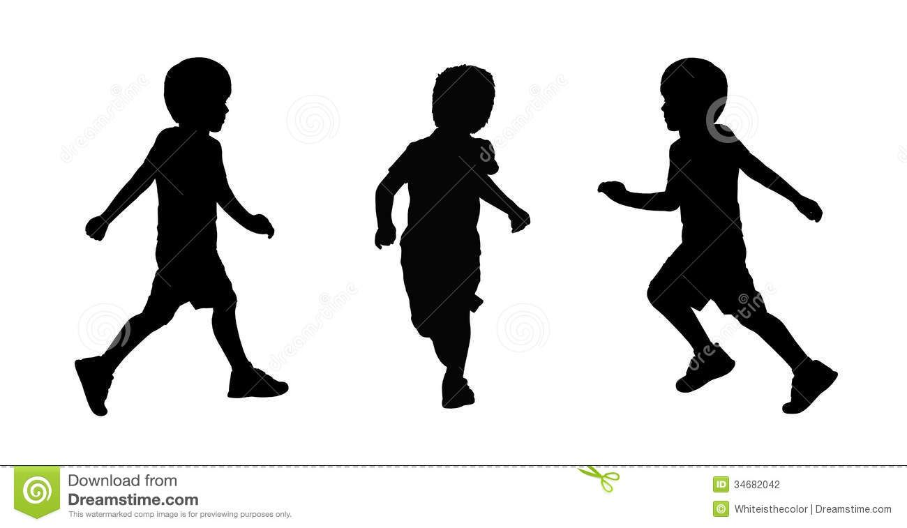 1300x757 Set Of Three Silhouettes Of A Little Schoolboy About 6 Years Old