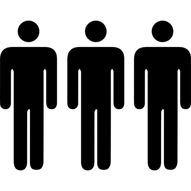 626x626 Three Persons Silhouettes Icons Free Download