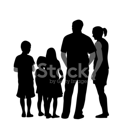 407x440 Threekids Stock Vector