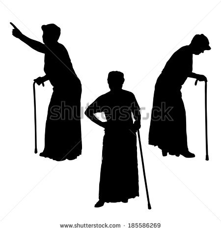 450x470 Grandma With Pot Silhouette Clipart