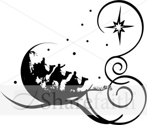 300x255 Whimsical Wise Men Religious Christmas Clipart