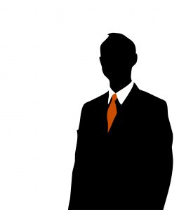 255x300 Businessman Silhouette With Orange Tie Photo Free Download