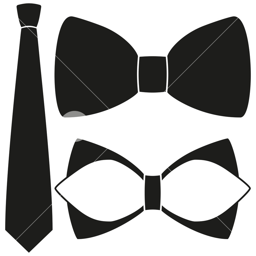 1000x1000 Icon Poster Man Father Dad Day Classic Tie Bowtie Silhouette
