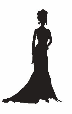 253x400 Women Silhouette Black Tie Clipart Collection