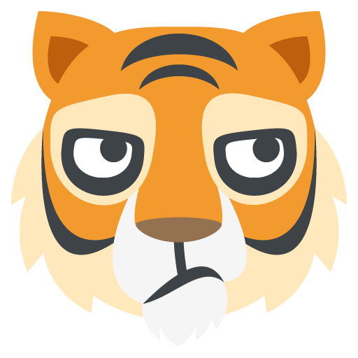 512x512 Tiger Face Emoji Vector Icon Free Download Vector Logos Art