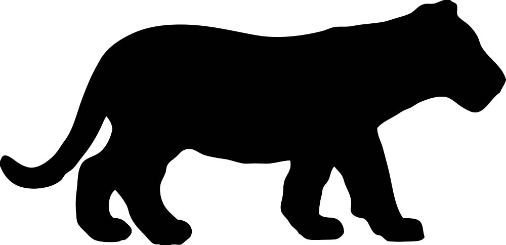 1000x484 Tiger Clipart Shadow