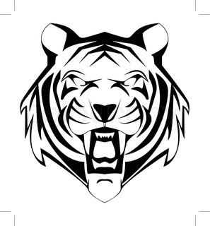 297x320 Tiger Face Stock Vector Colourbox