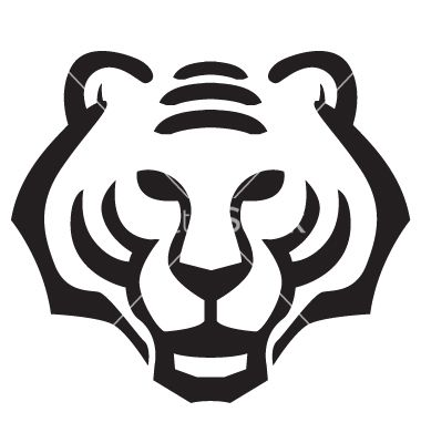 380x400 Tiger Face Vector Silhouette Tiger Face