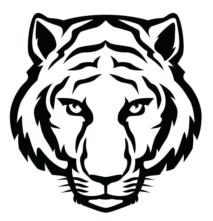 736x762 Tiger Face Outline