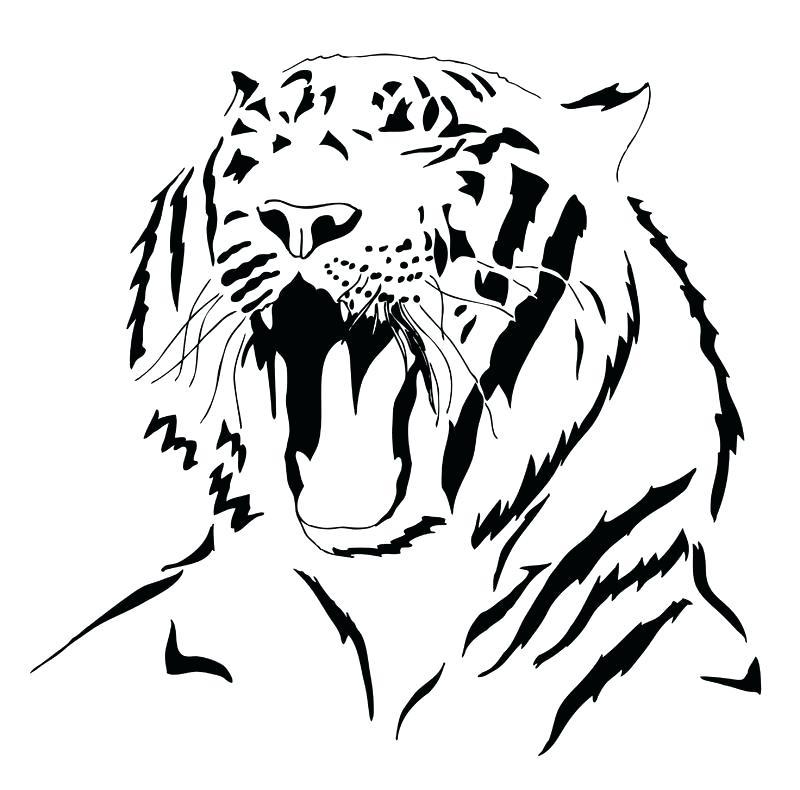 800x790 Printable Tiger Silhouette Print Free Tiger Silhouette Tiger Head