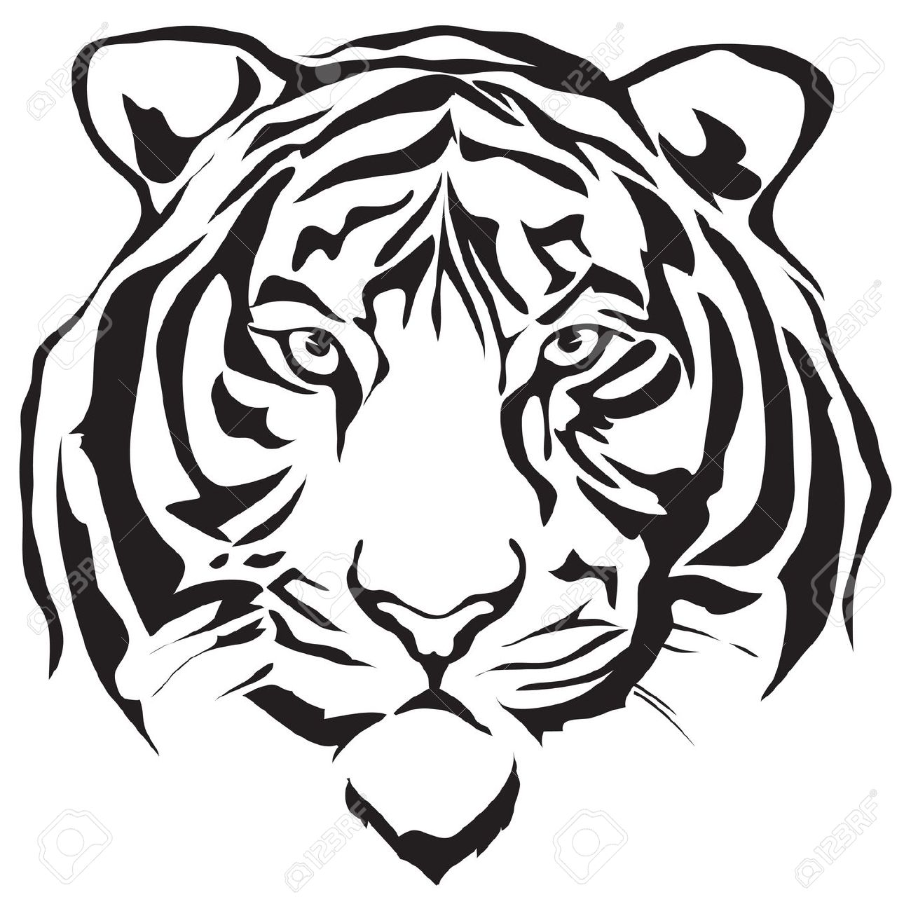 1300x1300 Tiger Head Stock Photos Images, Royalty Free Tiger Head Images