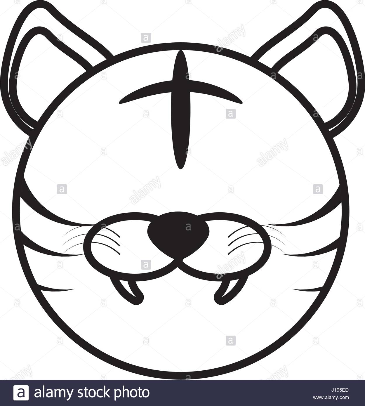 1250x1390 Tiger Outline Stock Photos Amp Tiger Outline Stock Images