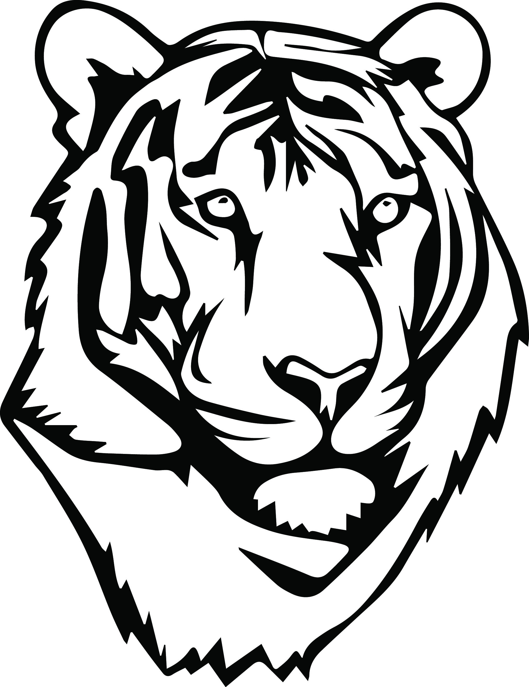 2024x2626 Tiger Svg Files Silhouettes Dxf Files Cutting Files Cricut
