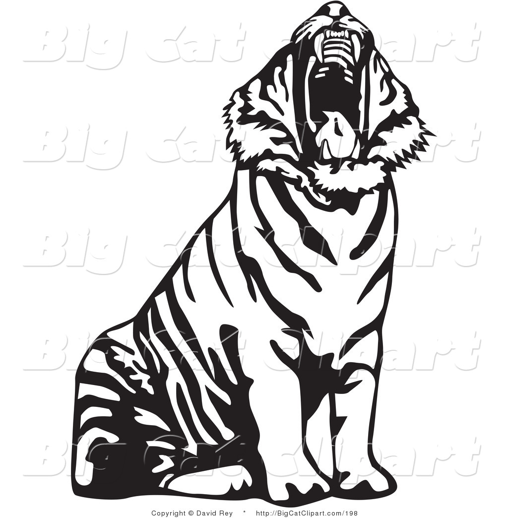 1024x1044 Clipart Tiger Black And White Silhouette