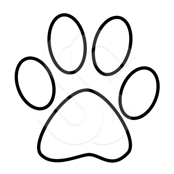 590x590 Paw Print Clip Art Outline Pleasing Tiger Paw Print Outline 99