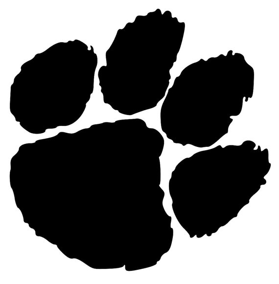 570x580 Tiger Paw Lion Paw Bobcat Paw Svg Cut File Design Mascot Svg
