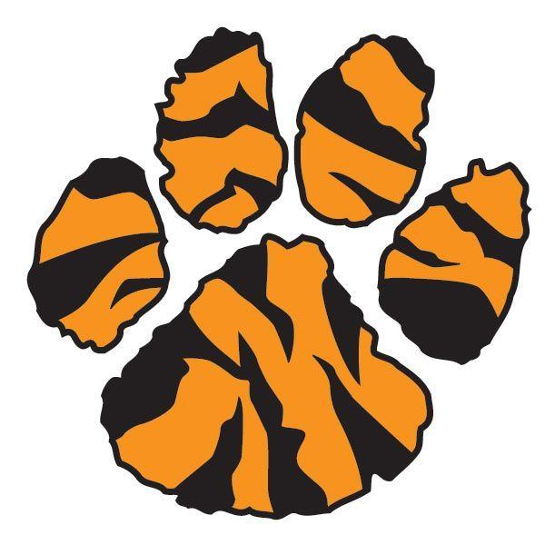 600x600 Tiger Paw Print Clipart