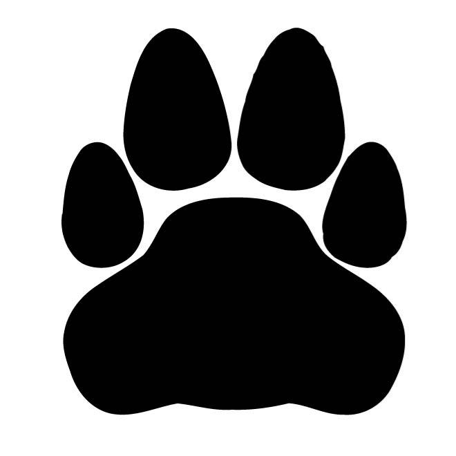 tiger paw silhouette at getdrawings com free for personal use rh getdrawings com lsu tiger paw clipart tiger paw border clipart free