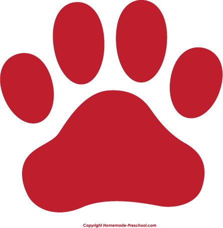 445x456 Free Tiger Paw Print Clipart
