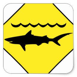260x260 Shark Sign Stickers Zazzle