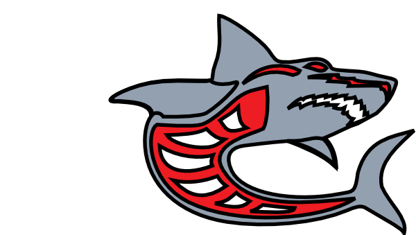 600x339 Shark Clipart Red