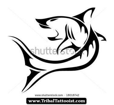 377x350 Tiger Shark Clipart