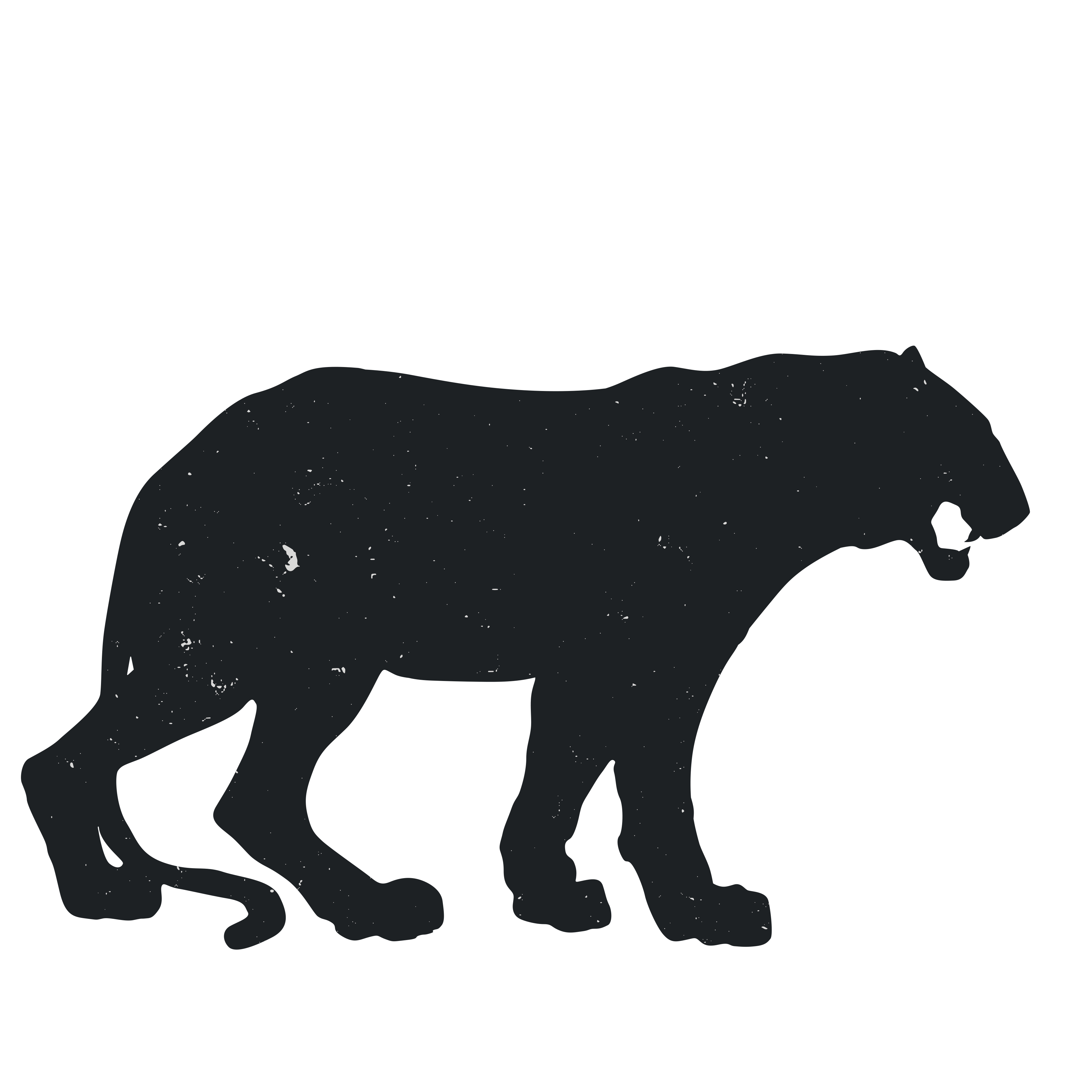 3600x3600 Baby Tigers Bengal Tiger Silhouette Clip Art