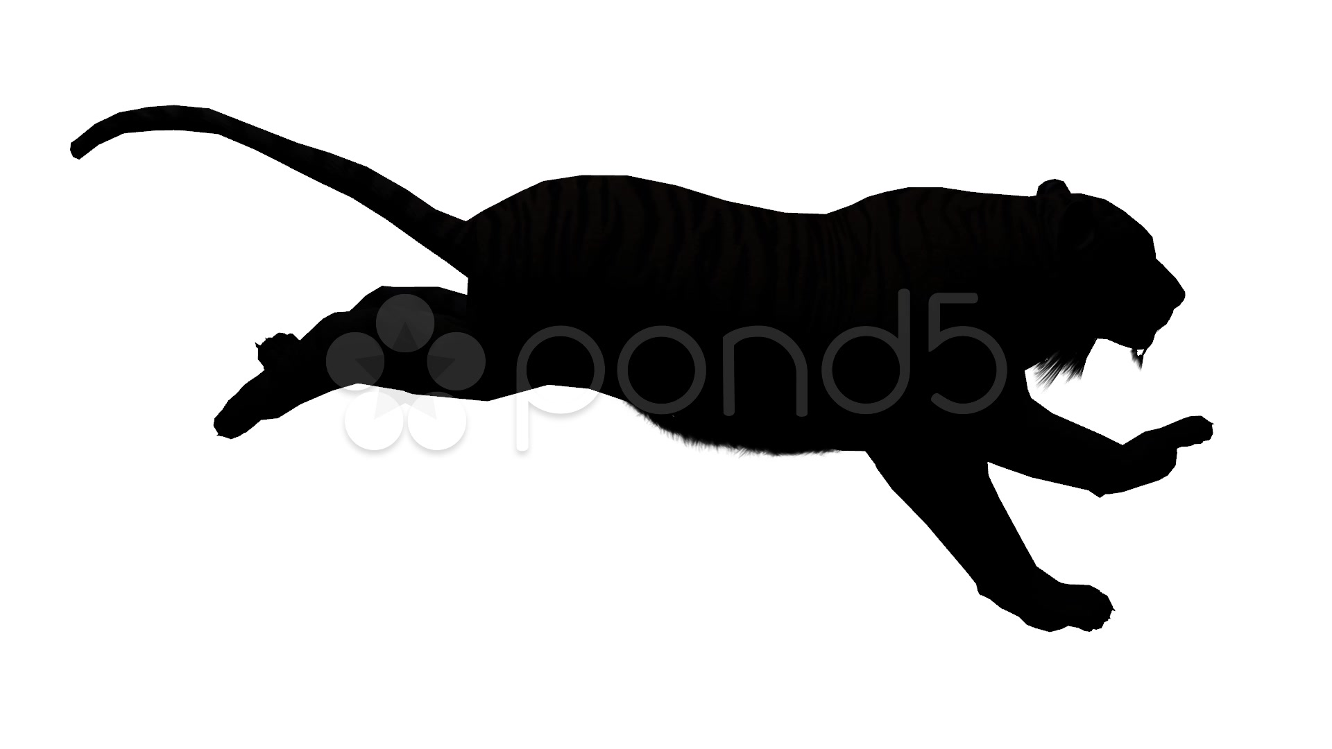 1920x1080 Tiger Running Sketch Silhouette,wildlife Animals Habitat