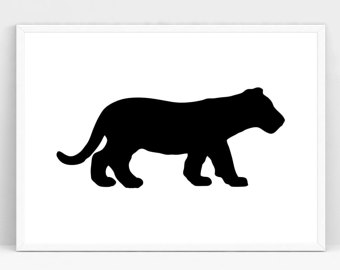 340x270 Tiger Silhouette Etsy