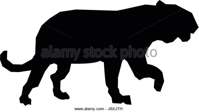 640x362 Tiger Silhouette Stock Vector Images