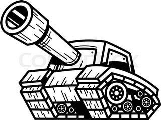 320x239 Tank Silhouettes Stock Vector Colourbox