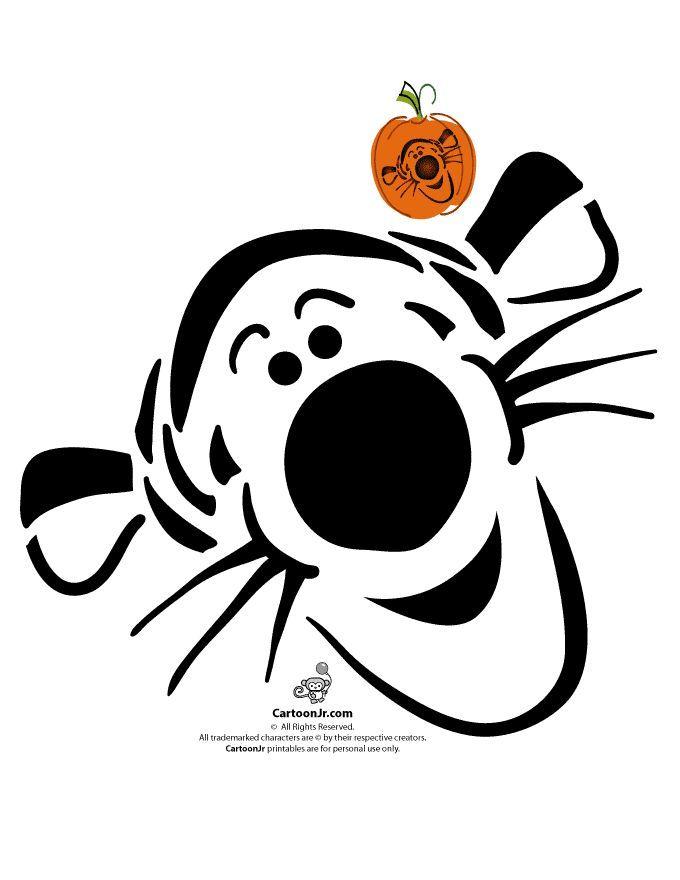 680x880 Classic Disney Pumpkin Stencils Disney's Tigger Pumpkin Pattern
