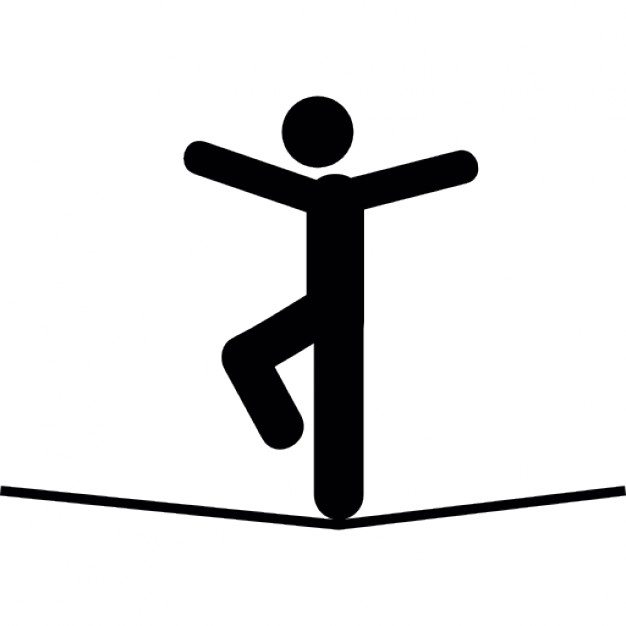 626x626 Man In Balance On A Tightrope Icons Free Download