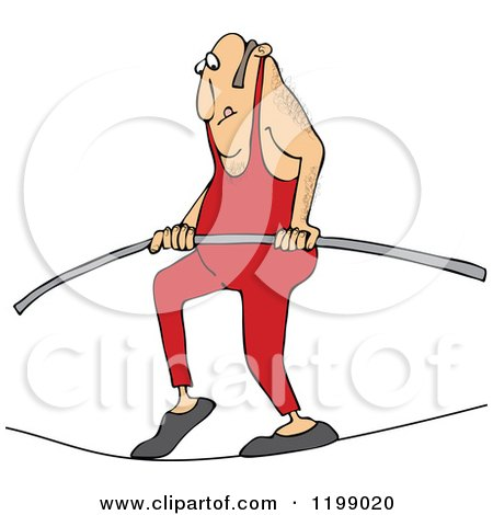 450x470 Royalty Free (Rf) Tightrope Walker Clipart, Illustrations, Vector