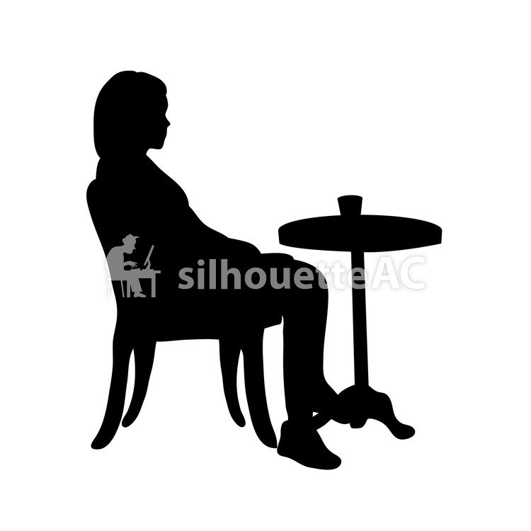 750x750 Free Silhouette Vector Cafe, Icon