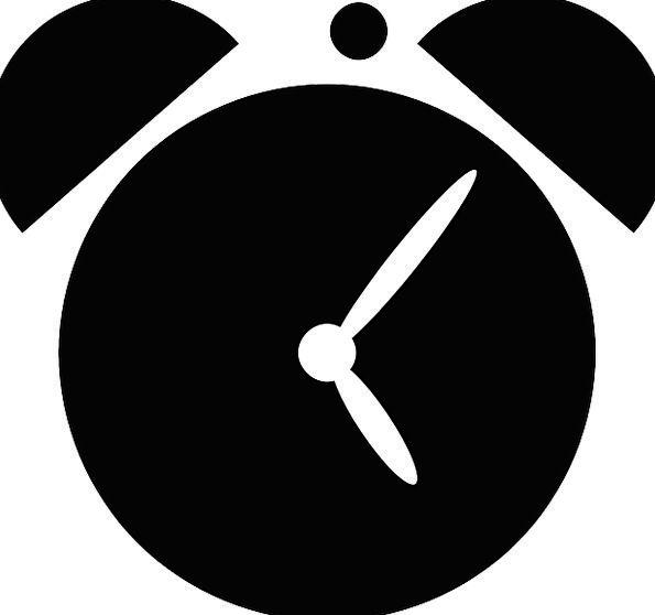 595x558 Alarm, Fear, Timepiece, Silhouette, Outline, Clock, Alarm Clock