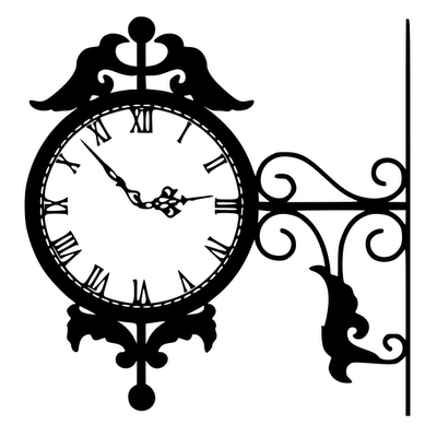 400x400 Clock (Silhouette Cameo Fanatic) Silhouettes, Clocks And Filing