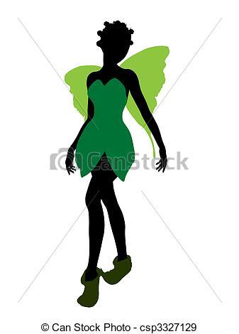 337x470 Tinker Bell Silhouette Illustration. Tinker Bell Stock