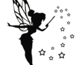 340x270 Tinkerbell Svg, Tinkerbell Dxf, Tinkerbell Silhouette Svg Cut