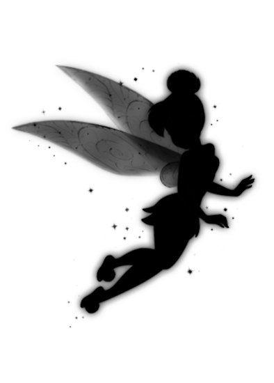 394x550 Tinkerbell Silhouette Disney Tinkerbell