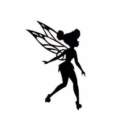 440x441 Disney Fairie Tinkerbell Silhouette Cut Out Iron
