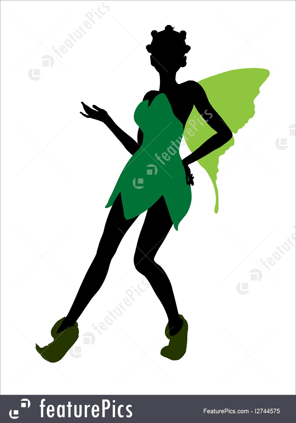 974x1392 Illustration Of Tinker Bell Silhouette