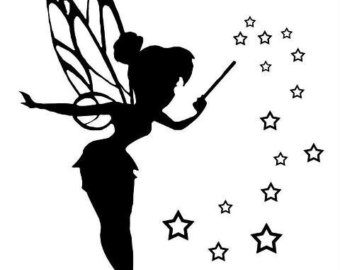 340x270 Tinkerbell Silhouette 14 Count Cross Stitch Chart Kit