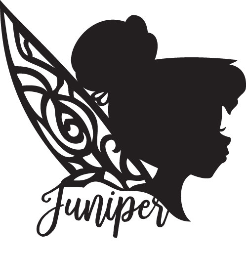 500x512 Disney,tinkerbell Silhouette, Personalized, Glossy Vinyl Decal