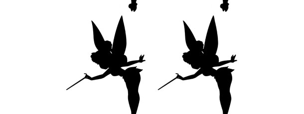 610x229 Tinkerbell Silhouette Cut Out Small
